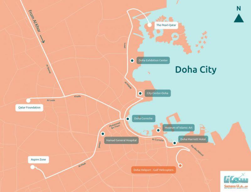 Doha kent haritası