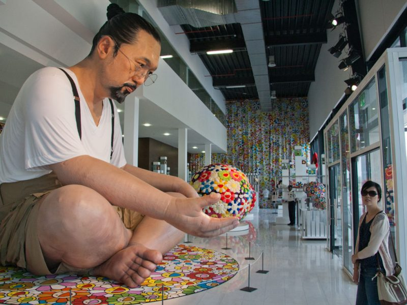 Takashi Murakami, Ego-Exhibition, Doha-Katar photo by, http://sonyaandtravis.com